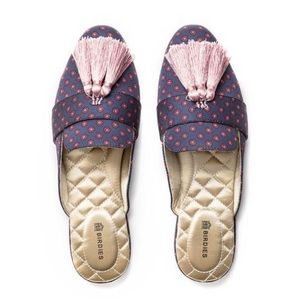 BIRDIES • Robin Flats Mules Slippers Tassel Shoes Includes Box